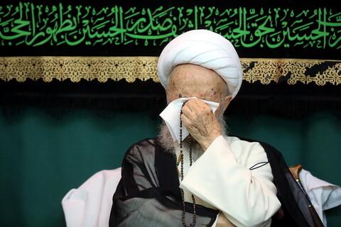 تصاویر/ مراسم عزاداری شهادت امام سجاد(ع) در بیوت مراجع