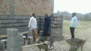 تصاویر/ تکمیل ساختمان خانه عالم روستای سرخ قلعه توسط مبلغین هجرت