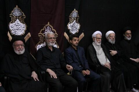 تصاویر/ آخرین شب مراسم عزاداری هیئت هنر و رسانه استان قم