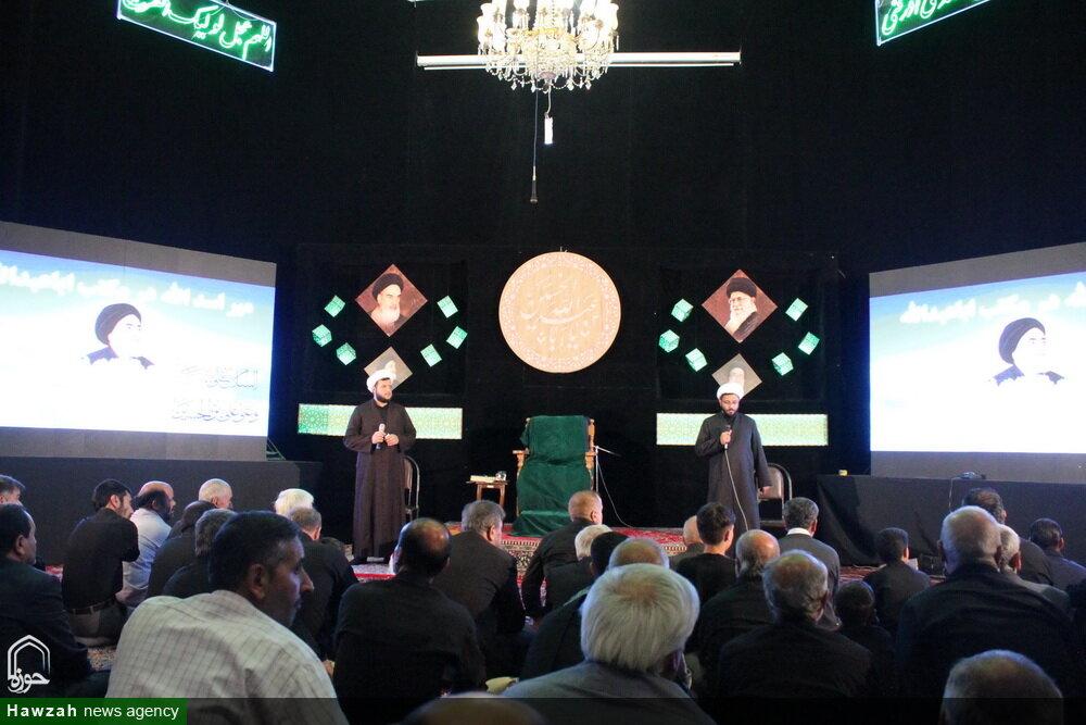 تصاویر/ مراسم پردهخوانی روحانیون همدانی با موضوع الگوگیری شهدا از یاران امام حسین(ع)