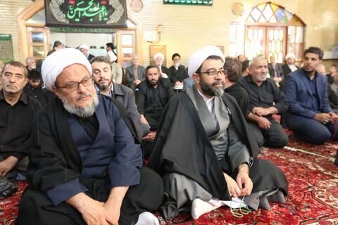 تصاویر/ حضور آیت الله اعرافی در مراسم بزرگداشت شهید مدنی در تبریز