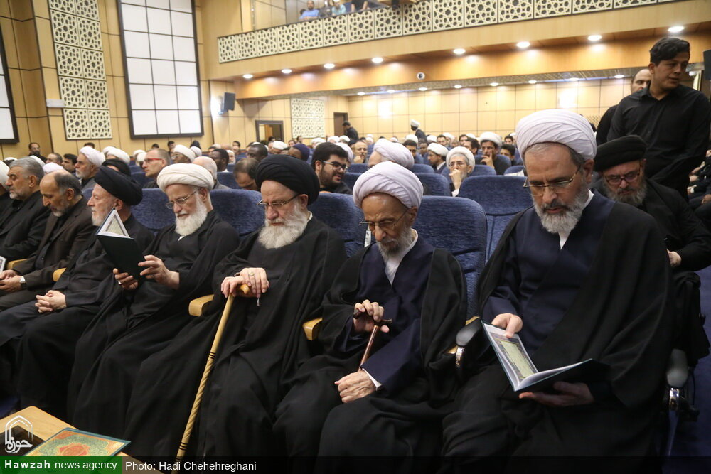 تصاویر/ مراسم بزرگداشت مرحوم حجت الاسلام والمسلمین شیخ حسین کورانی در قم