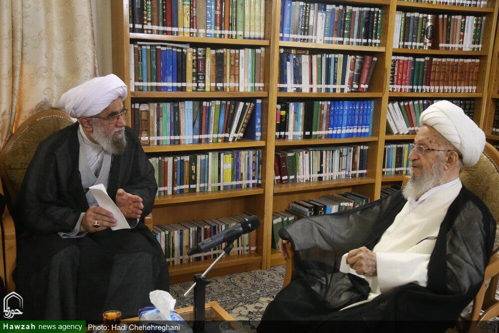 تصاویر/ دیدار دبیرکل مجمع جهانی اهل بیت(ع) با آیت الله العظمی مکارم شیرازی