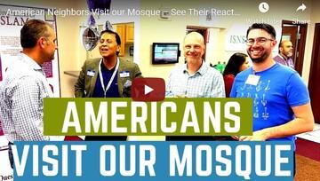 بازدید جمعی از میهمانان غیرمسلمان ایلینوی آمریکا از مسجد