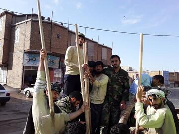 تصاویر/ طلاب عنبرآباد موفقترین گروه جهادی کرمان