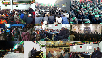 آستان مقدس حسینی در 13 کشور مراسم عزاداری برگزار کرد + تصاویر