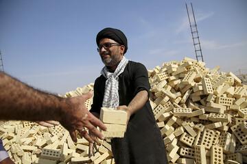 تصاویر/ فعالیت های تبلیغی-جهادی طلاب هندی مقیم ایران در مناطق محروم خوزستان(۲)