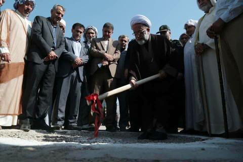آیین کلنگ زنی احداث خانه بهداشت روستای سیل زده حماد از توابع شهرستان حمیدیه