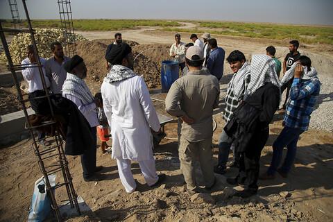 تصایر/ فعالیت های تبلیغی-جهادی طلاب هندی مقیم ایران در مناطق محروم خوزستان(۲)