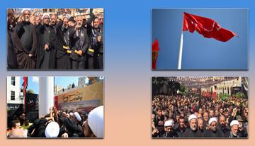 برافراشته شدن پرچم حرم امام حسین (ع) در جنوب لبنان