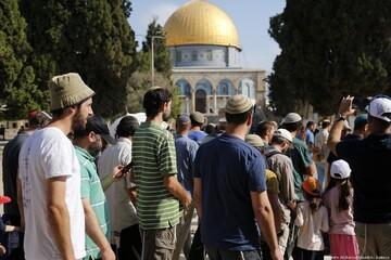 یورش  شهرک نشینان  یهودی به مسجد الاقصی در هفته گذشته