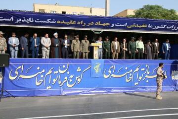 رژه نیروهای مسلح استان سمنان برگزار شد