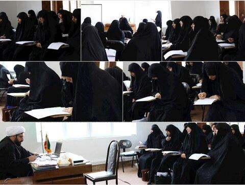 برگزاري كارگاه مهارت افزايي بيان تفسير در حوزه خواهران هرمزگان
