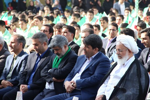 تصاویر/ مراسم نواختن زنگ مهر و مقاومت در مدارس یزد