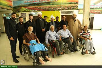 تصاویر/ دیدار جمعی از طلاب اصفهان با جانبازان آسایشگاه شهید مطهری