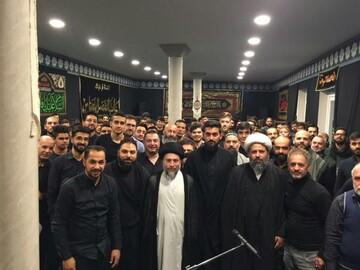 السيد رياض الحكيم يزور عدة دول أروبية ويشارك في المجالس الحسينية ويلقي محاضرات + صور