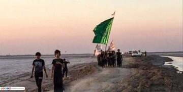 آغاز پیاده روی اربعین حسینی از دورترین نقطه جنوب عراق + تصاویر
