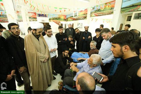 دیدار جمعی از طلاب حوزه علمیه اصفهان با جانبازان آسایشگاه شهید مطهری
