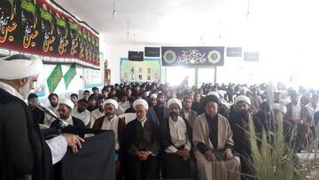 تصاویر/ مراسم آغاز سال تحصیلی جدید مدارس علمیه شهرستان بم