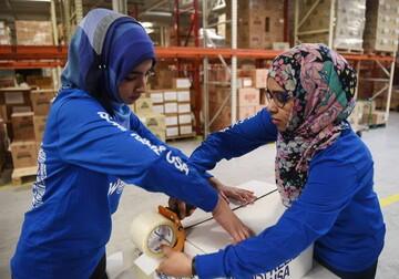 دانشجویان مسلمان مریلیند 20 هزار وعده غذایی به نیازمندان دادند