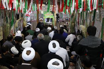 مراسم بزرگداشت دفاع مقدس در مرکز خدمات حوزههای علمیه برگزار شد