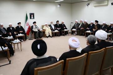 تصاویر/ دیدار رئیس و نمایندگان مجلس خبرگان رهبری با رهبر معظم انقلاب