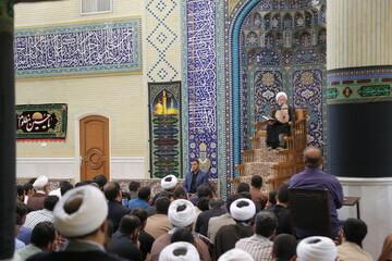 تصاویر/ اولین جلسه درس اخلاق آیت الله العظمی جوادی آملی در سال تحصیلی جدید