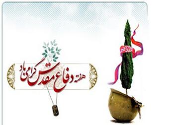 مراسم تعظیم و تکریم شهدای شهر شهداد برگزار شد + عکس
