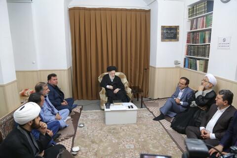 تصاویر/ دیدار رئیس بیمه مرکزی ایران با مراجع و علما