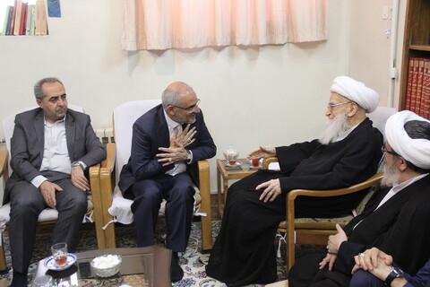 دیدار وزیر آموزش و پرورش با آیت الله العظمی صافی