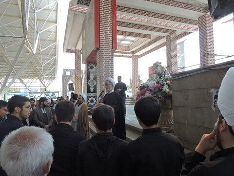 حضور طلاب و روحانیون تبریز در گلزار شهدا