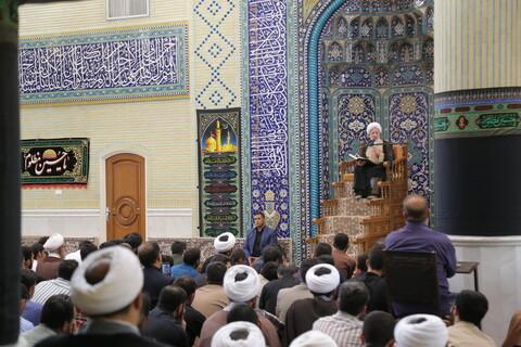 تصاویر/ اولین درس اخلاق آیت الله العظمی جوادی آملی در سال تحصیلی جدید