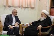 بالصور/ وزير التعليم والتربية الإيراني يلتقي بمراجع الدين والعلماء بقم المقدسة