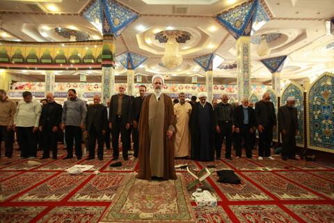 تصاویر/ بازدید آیت الله اعرافی از مدرسه علمیه سفیران هدایت و اقامه نماز جماعت در مسجد جامع زاهدان