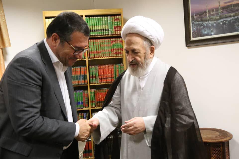 دیدار وزیر صنعت، معدن و تجارت با آیت الله سبحانی