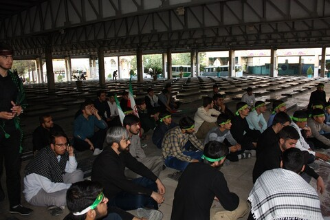 تصاویر/ حضور طلاب مدرسه علمیه حضرت امام(ره) کرمانشاه در مزار شهدای دفاع مقدس