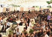 """بالصور/ إقامة مراسيم تحت عنوان """"يوم الحسين (ع)"""" في جامعة كراتشي الباكستانية"""