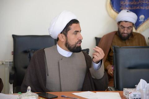 تصاویر/ نشست مدیر و معاونان حوزه علمیه البرز با معاونت تهذیب حوزه های علمیه