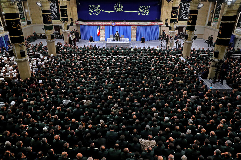 رهبر انقلاب در دیدار فرماندهان سپاه