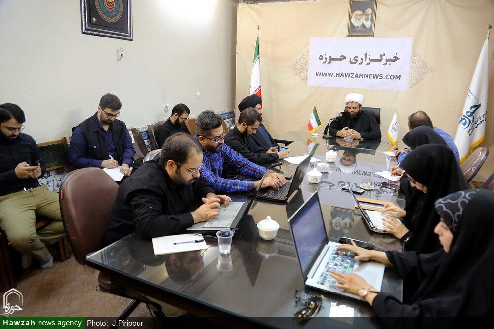 تصاویر/ نشست خبری مسئول دبیرخانه مبلغین اربعین در خبرگزاری حوزه