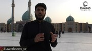 فیلم| زائران اردو زبان در مسجد جمکران از پیادهروی اربعین میگویند