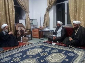 بازدید حجت الاسلام والمسلمین رحیمی صادق از حوزه علمیه بناب+ عکس