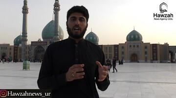 فیلم  زائران اردو زبان در مسجد جمکران از پیادهروی اربعین میگویند