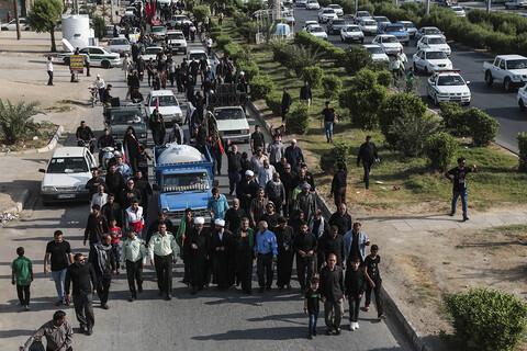 تصاویر/ حرکت مشایه مردم منطقه پردیس از مسیر شهداء الحسین (اهواز-شلمچه)