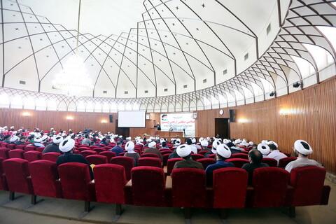 تصاویر/ همایش مبلغین اربعین حسینی در مدرسه عالی دارالشفاء