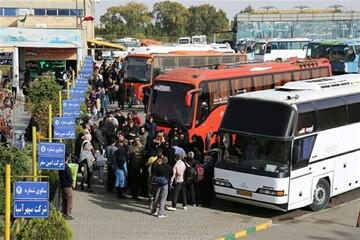 استقرار یک هزار دستگاه اتوبوس در مرز شلمچه برای بازگشت زائران