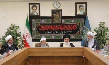 تصاویر/ نشست اعضای جامعه مدرسین با حضور دبیرکل مجمع جهانی اهل بیت(ع)