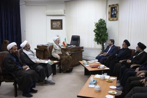 تصاویر/ دیدار رئیس سازمان بهزیستی کشور با آیت الله اعرافی