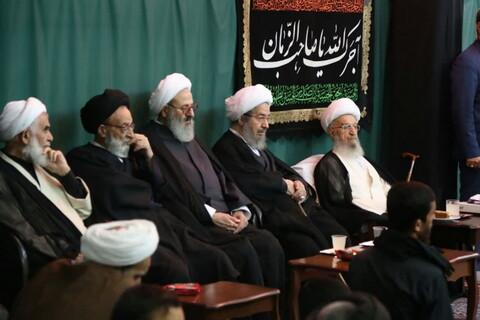 تصاویر/ مراسم عزاداری شهادت امام حسن(ع) در بیوت مراجع و علما