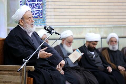 تصاویر/ مراسم عزاداری شهادت امام حسن مجتبی(ع) در مرکز فقهی ائمه اطهار(ع)